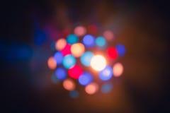 Los efectos especiales de la luz del club del disco del color y el laser muestran imagenes de archivo