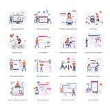Los ejemplos del desarrollo de proyecto embalan libre illustration