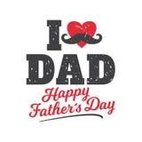 Los ejemplos del vector diseñan especialmente para el día del padre s Amo al papá, día feliz del ` s del padre ilustración del vector