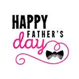 Los ejemplos del vector diseñan especialmente para el día del padre s Día feliz del padre s stock de ilustración