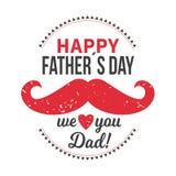 Los ejemplos del vector diseñan especialmente para el día del padre s Día feliz del padre s Le amamos papá libre illustration