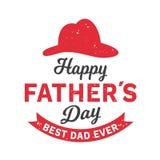 Los ejemplos del vector diseñan especialmente para el día del padre s Día feliz del padre s El mejor papá nunca stock de ilustración