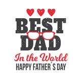 Los ejemplos del vector diseñan especialmente para el día del padre s el mejor papá en el mundo Día feliz del ` s del padre libre illustration