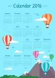Los ejemplos hacen calendarios para 2016 Imagen de archivo