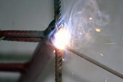los electrodos del hierro foto de archivo libre de regalías