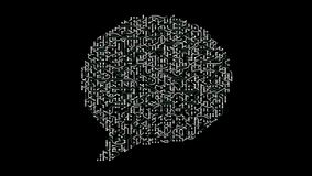 los electrones de la placa de circuito 4k formados hablan el símbolo, conexiones electrónicas, muestra social de Internet global  libre illustration