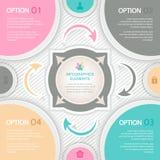 Los elementos abstractos del infographics para el vector de las presentaciones del negocio diseñan la plantilla Imágenes de archivo libres de regalías