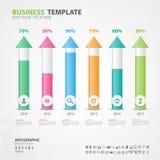 Los elementos de Infographics diagram con 6 pasos, opciones, diapositiva, presentación, gráfico, carta, diagrama, vector de la cr ilustración del vector