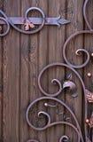 Los elementos decorativos forjaron dise?os hechos a mano de la decoraci?n fotografía de archivo