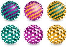 Los elementos del diseño de la esfera, vector los globos abstractos Imagen de archivo libre de regalías