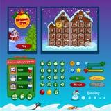 Los elementos del diseño del interfaz del juego Foto de archivo libre de regalías