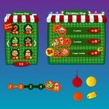 Los elementos del diseño del interfaz del juego Imágenes de archivo libres de regalías