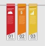 Los elementos del diseño de INFOGRAPHICS vector el ejemplo Foto de archivo libre de regalías