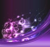 Ackground púrpura del plasma Foto de archivo libre de regalías
