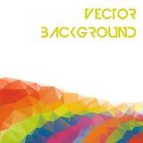 Los elementos geométricos multicolores del paisaje del triángulo abstracto para el folleto del diseño, bandera, tarjeta - vector  Fotografía de archivo libre de regalías