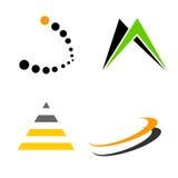 Los elementos/las dimensiones de una variable de la insignia recogen Imagen de archivo libre de regalías