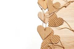 Los elementos scrapbooking de Valentine Day empapelan corazones y los colocan para el texto Fotografía de archivo