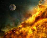 Los elementos solares de la dinámica de la eyección total coronal de la llamarada solar de esta imagen suministraron por la NASA ilustración del vector