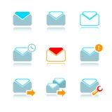Los email icono-fijaron Imagen de archivo