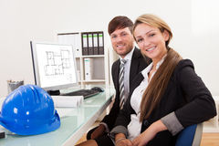 Los empleados tomaron la rotura del trabajo Imagen de archivo libre de regalías