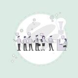 Los empresarios agrupan el escritorio creativo de trabajo de Team Business People Sitting Office ilustración del vector