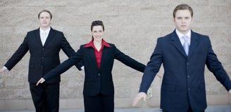 Los empresarios se elevan Imagen de archivo