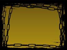Los encadenamientos negros Vector la frontera de Grunge stock de ilustración
