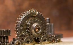 Los engranajes que son lubrican Imagen de archivo libre de regalías