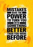 Los errores tienen el poder de darle vuelta en algo mejor que usted estaba antes ilustración del vector