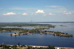 Los espacios abiertos de Volga. Foto de archivo libre de regalías