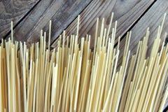 Los espaguetis se cierran para arriba Imágenes de archivo libres de regalías