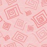 Los espirales del color de rosa. Foto de archivo
