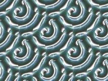 Los espirales regulares inconsútiles modelan verde oscuro y blanco diagonalmente Fotografía de archivo