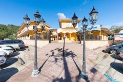 Los Establos winkelcentrumingang Boquete Panama royalty-vrije stock foto's