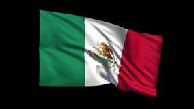 Los estados mexicanos unidos de colocación inconsútiles señalan agitar por medio de una bandera en viento de t Republiche, canal  almacen de metraje de vídeo