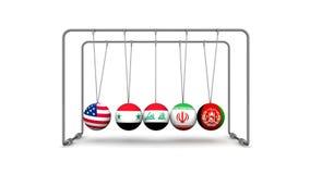 Los Estados Unidos como factor de desestabilización en geopolítica stock de ilustración