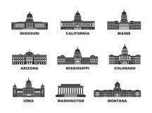 Los Estados Unidos de América Colección del vector de ciudad de Estados Unidos libre illustration