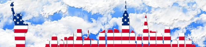 Los Estados Unidos de América el 4 de julio, concepto del Día de la Independencia imágenes de archivo libres de regalías