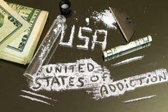 Los Estados Unidos del apego Crisis epidémica de la droga del ` s de América fotos de archivo libres de regalías