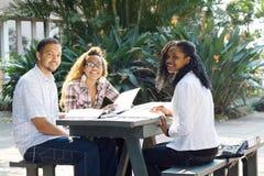 Los estudiantes estudian juntos Fotografía de archivo libre de regalías