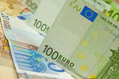 Los Eurobanknoten - hoher Geldbetrag Stockfoto