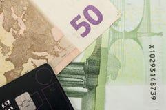 Los eurobills Stockfotografie