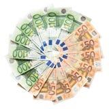 Los Euros in einem Kreis Lizenzfreie Stockbilder