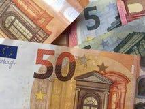 Los euros se cierran para arriba fotografía de archivo libre de regalías
