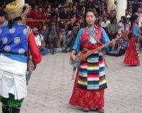 Los exilios tibetanos en la India celebran el cumpleaños de Dalai Lama Foto de archivo libre de regalías