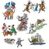 Los exploradores celebrados en Asia_2 ilustración del vector