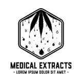 Los extractos médicos diseñan la plantilla Vector y ejemplos médicos del aceite ilustración del vector