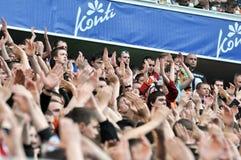 Los fans aplauden Imagen de archivo