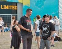 Los fans en el atlas Weekend festival de música en Kiev, Ucrania Fotografía de archivo libre de regalías