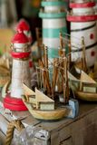 Los faros y los barcos Imagen de archivo libre de regalías